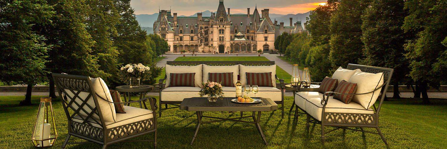 Outdoor furniture at the Biltmore House